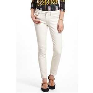 Anthro Pilcro White Stet Skinny Denim Jeans